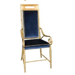 Bamboo Brass Dining Chairs